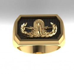 Custom Navy EOD Ring made by US Veterans
