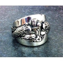 Amazing Custom Sterling Silver Submariner Ring