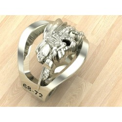 Sterling Silver US Navy Seabee Ring