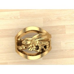 Gold US Navy Seabee Ring
